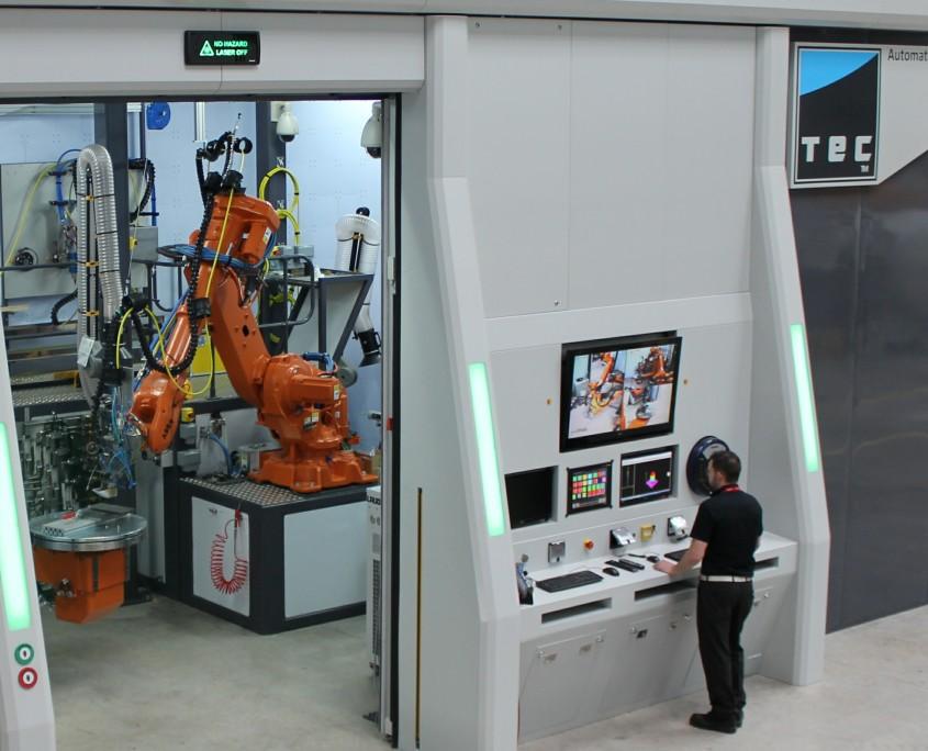 laser welding robot cell