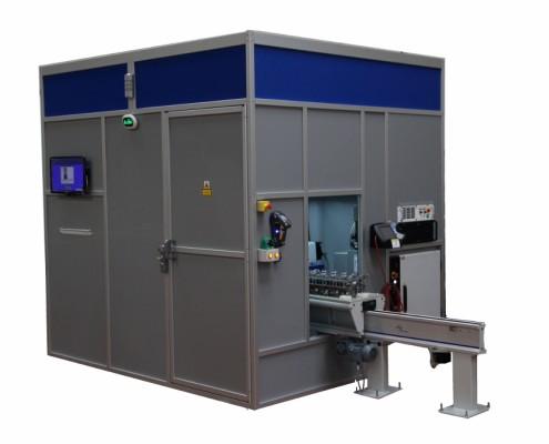 robot laser marking cell
