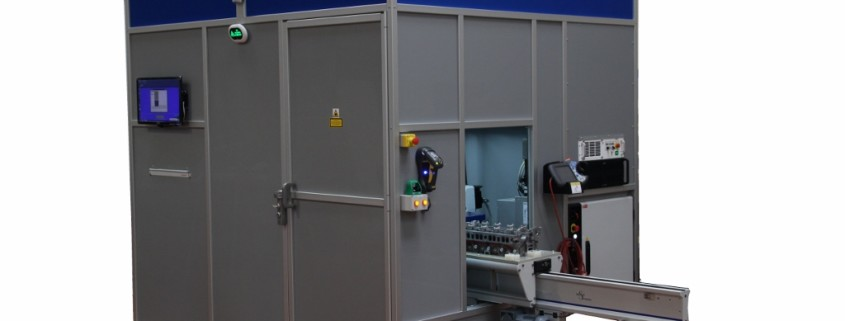 robot laser marking cell